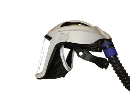 masque visière pour adduction d'air